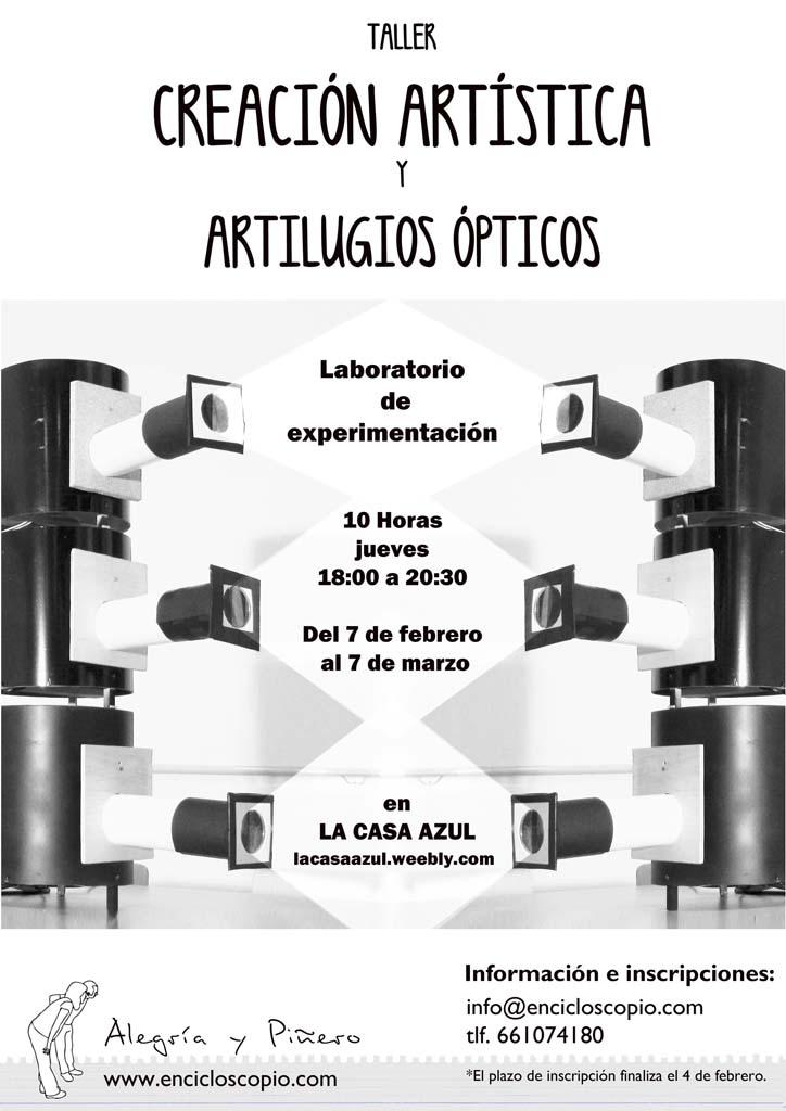 """cartelweb Taller: """"Creación artística y artilugios ópticos"""""""