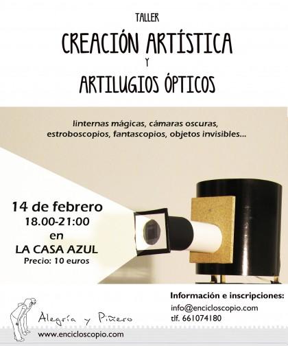 taller-creación-artistica-3-horas-420x504 CAMBIO DE PLANES: Taller creación artística y artilugios ópticos
